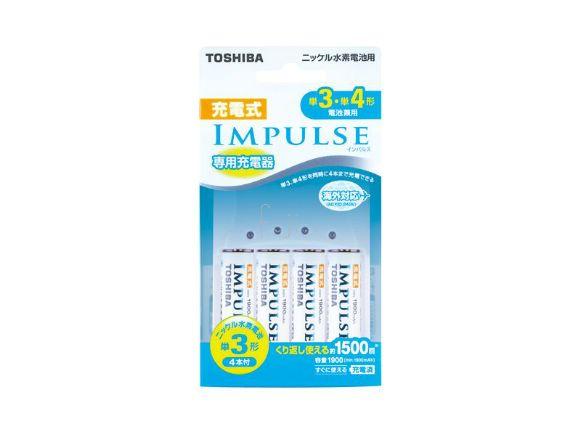 Toshiba東芝3號電池急速充電組 (含四顆三號2000低自放電池)(TNHC-34MH)