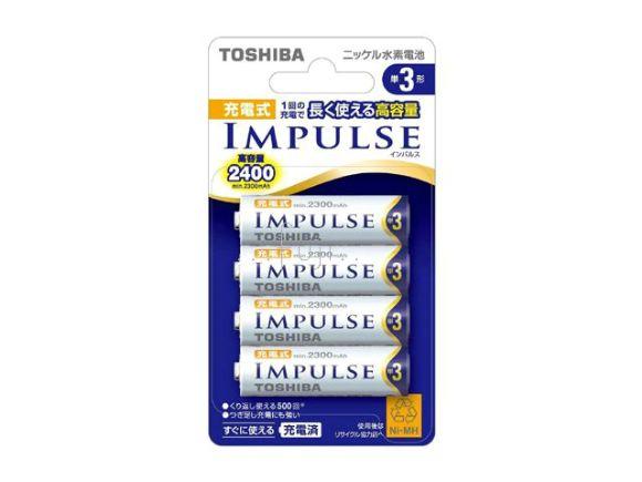 Toshiba東芝IMPULSE三號2400mAh低自放電(鎳氫)充電電池(四顆裝)(TNH-3A 4P)