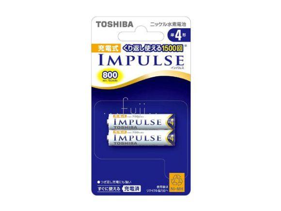 Toshiba東芝IMPULSE 四號低自放電(鎳氫)充電電池(二顆裝)(TNH-4A2P)