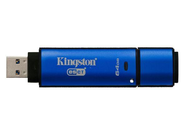 KINGSTON金士頓DataTraveler Vault Privacy 3.0 AV硬體防毒加密隨身碟(64GB)(DTVP30AV/64GB)