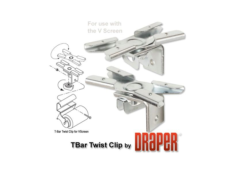 T-Bar Twist Clips (V Screen) 蝺刻?嚗�A12664