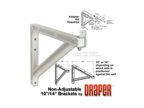 10 or 14 inch Wall Brackets10 /14吋壁掛架(6 in Wall Brackets)