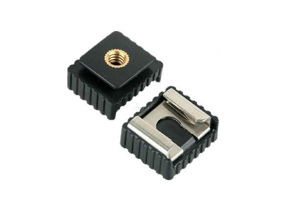 通用型SC-6閃光燈底座冷靴座(帶1/4螺絲孔.無接點.兩顆)(SC-6)