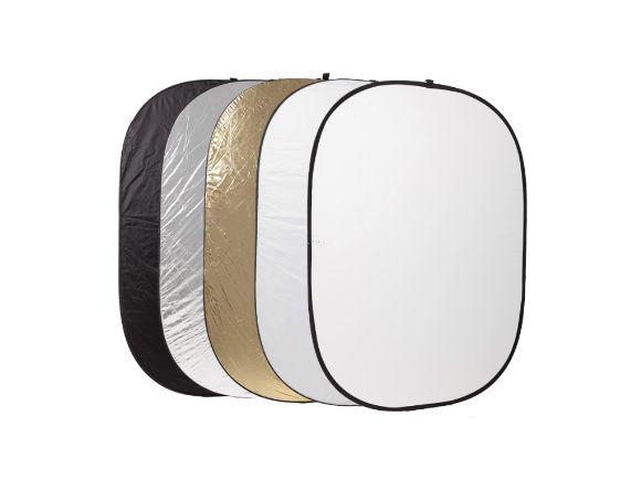60X90CM 橢圓形五合一反光板(白.金.銀.黑.柔光) EP6090(EP6090)