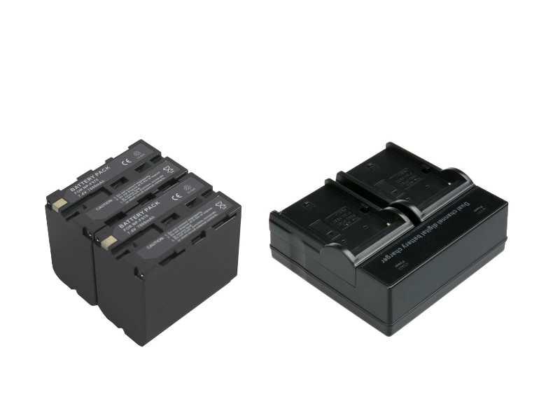 雙槽急速充電器+兩顆F970優惠套組(AC-VQ1051DKIT)