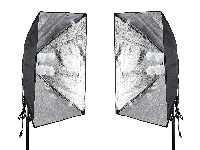 50x70cm高亮4燈款攝影棚燈組(一組兩盞)