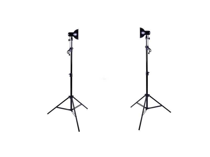 HAKUTATZ 45W5500K 落地型攝影棚燈2盞(含燈、 160cm腳架,兩只裝)(VL9019)