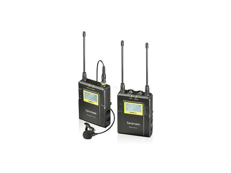 Saramonic楓笛UwMic9一對一無線麥克風套裝(公司貨)(UwMic9 RX9+TX9)
