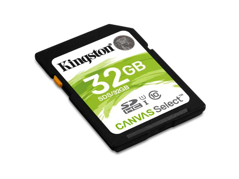 KINGSTON金士頓Canvas Select SDHC記憶卡(32G)(SDS/32GB)