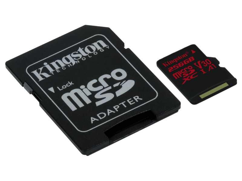 KINGSTON金士頓Canvas React microSDXC記憶卡(256GB)(SDCR/256GB)