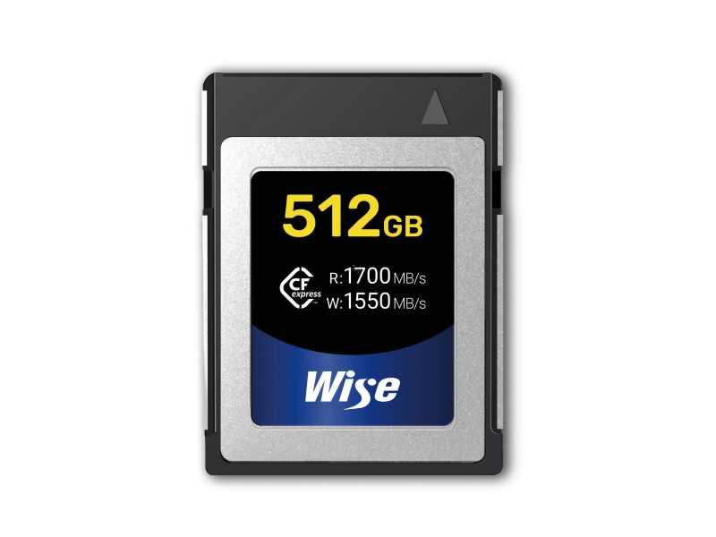 Wise裕拓512GB超高速CFexpress記憶卡(讀取1700 MB/s)(CFX-B512)