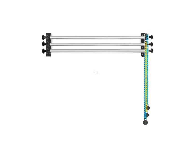 3軸手動鏈條背景組 (含鏈輪、膨脹棒、吊墜)(NG-3W)