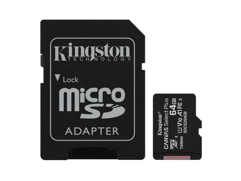 KINGSTON金士頓64GB Canvas Select Plus microSDXC記憶卡(SDCS2/64GB)