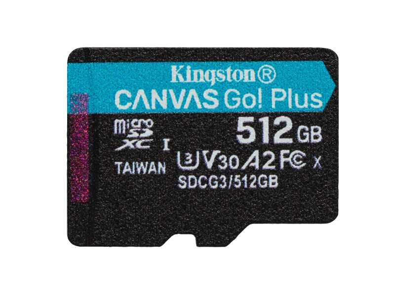 KINGSTON金士頓512GB Canvas Go!Plus microSDXC記憶卡(SDCG3/512GB)