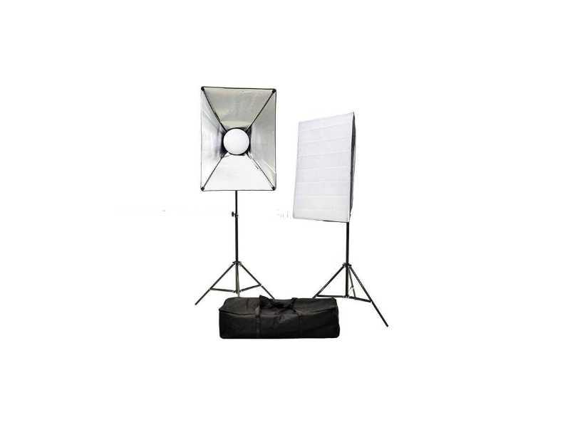新版50x70cm無影罩LED可調光/色溫可調攝影棚雙燈燈組(一組兩盞)(C5070-TC80)