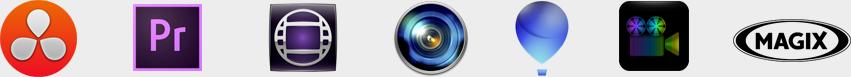 Resolve Premiere Pro CC Avid Media Composer Sony Vegas Corel VideoStudio CyberLink Power Director MAGIX Video Pro DaVinci