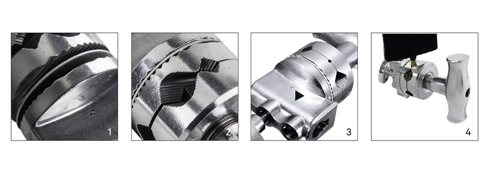 "KCP-200 / 2-1/2"" Grip Head (Silver)"