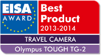 EISA Best Product 2013-2014 TRAVEL CAMERA OLYMPUS TOUGH TG-2