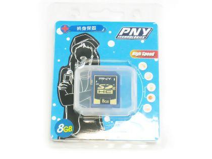 PNY必恩威8GB SDHC Class 4記憶體(終身保固)(P-SDHC8G4-FS)