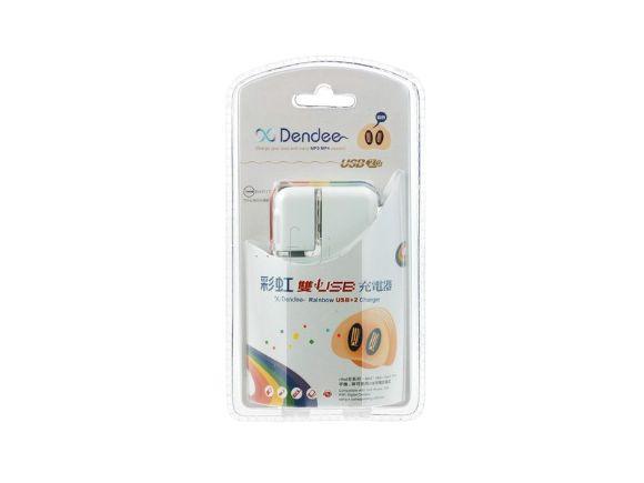 Image 士林電機xDendee 彩虹雙USB充電器(SL-BCRAINBOW)
