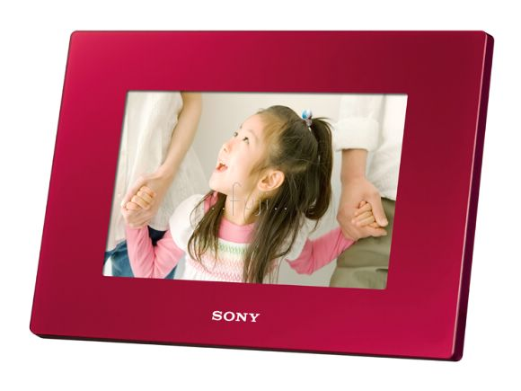 SONY原廠7吋DPF-D720 S-Frame 數位相框(瑰麗紅)(DPF-D720/R)