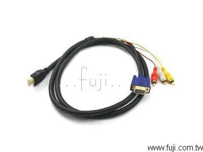 HDMI ���t(3 RCA)+VGA�u(HDMI2VGA)