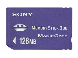 SONY原廠Memory Stick Duo 128MB記憶卡(送轉卡) (MSH-M128A)
